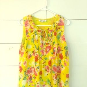 Rose and olive tank